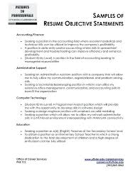sample career objectives resume career objective resume accountant  objectives for resumes - Sample Objectives For Resumes
