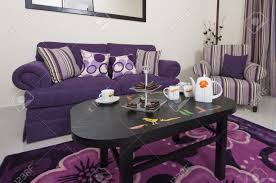 Purple Living Room Chairs Living Room Lounge In A Luxury Apartment Showing Purple Interior