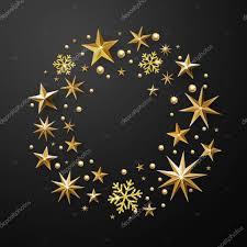 Weihnachten Kranz Dekoration Gold Glitter Sterne