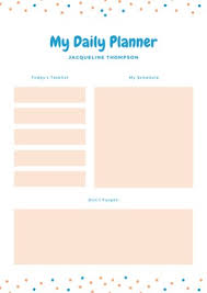 Daily Routine Maker Customize 475 Planners Templates Online Canva