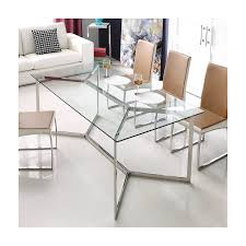calabria stainless steel and glass dining table calabria stainless steel