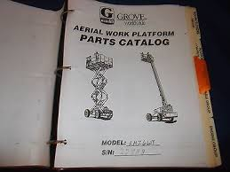 grove amz66xt aerial work platform man lift parts book catalog grove amz66xt aerial work platform man lift parts book catalog manual book prev