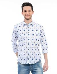 Pepe Jeans Casual Shirt Size Chart Pepe Jeans Men Printed Casual White Shirt Buy Off White