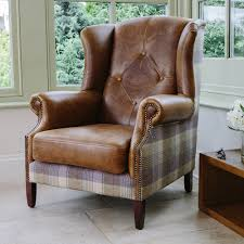 Plaid Living Room Furniture Re Upholstered Sofa In Tartan Plaid And Leather This Is Exactly
