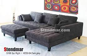 sectional sofa with chaise. Perfect Sectional 3pc New Modern Dark Grey Microfiber Sectional Sofa Chaise Ottoman Set  S168RDG In With