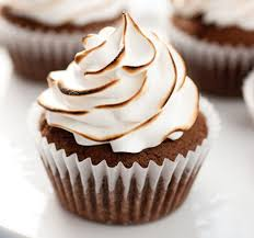 Brownie Cupcakes With Torched Marshmallow Frosting Julies Cafe