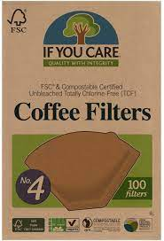 Coffee pod filter paper (heat seal). Amazon Com If You Care Unbleached Coffee Filters 4 Pack Of 100 Cone Shaped All Natural Biodegradable Compostable Chlorine Free Home Kitchen