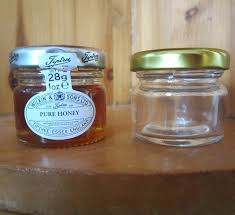 small honey jars nz whole round clear glass with tin lids