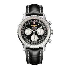 breitling watches luxury watches ernest jones breitling navitimer 01 43mm men s black strap watch product number 9112847