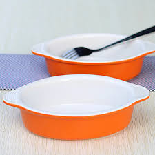 ceramic plate in oven. Perfect Ceramic Ceramic Baking Dishes Bake Pans Interaural Dish Plate Western Soup  Baked Rice Oven Pudding Desserts On Aliexpresscom  Alibaba  In L