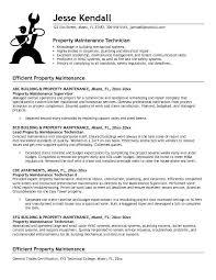 Maintenance Mechanic Resume Sample Property Maintenance Technician Resume Sample Industrial Mechanic