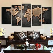 world map canvas wall art 5 set vintage abstract wall art painting world map print on