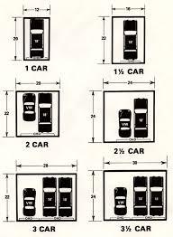 dimension standard garage