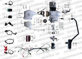 roketa atv 32 engine, wiring and exhaust parts 110cc chinese atv body parts at 110cc Atv Engine Parts Diagram