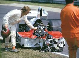 Accident Ian Ashley - Williams-Ford FW03 - German GP Nürburgring ...