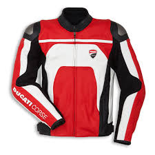 ducati genuine corse c4 white red leather jacket size 48