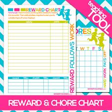 Free Printable Kids Chore Rewards Chart