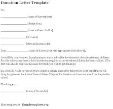 Format For Sponsorship Letter Interesting Donation Letter Template Sample Letters Pinterest Letter