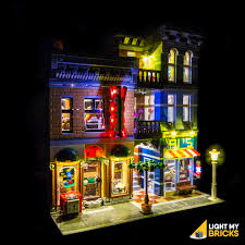 Office lego Cubicle Medium Light My Bricks Detectives Office 10246 Light Kit Instructions