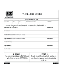 Vehicle Bill Of Sale Form nc auto bill of sale template – findspeed
