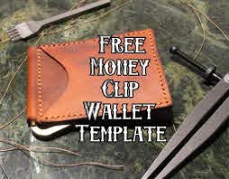 free leather money clip wallet template