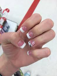 French Tip Nail Design Ideas French Tip Acrylic With Flower Spring Nails French