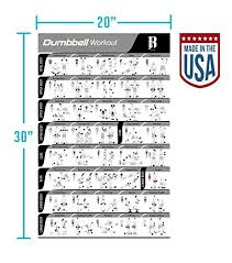 Total Gym Weight Chart Laminated Dumbbell Workout Poster For Home Gym Made In Usa Total Gym Exercise Chart Fitness Posters To Build Muscle Weight Lifting And