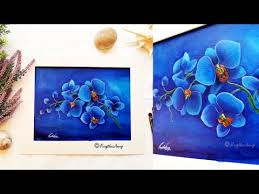 step by step acrylic painting blue