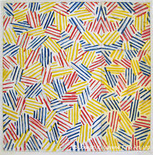 jasper johns crosshatch after untitled color lithograph