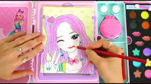 makeup artist sketch set toy makeover with makeup hair color لعبة ماكياج maquiagem artista