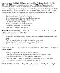 General Laborer Resume Unique Laborer Resume Examples Yeniscale