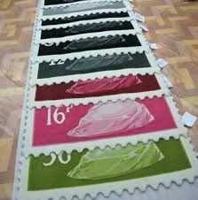 If your Royal Mail Stamp Rug is being laid on a hard floor i.e. wood or  tile, we would highly recommend using an underlay to stop it moving.