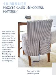 enchanting parsons chair slipcover pattern and ana white easiest parson chair slipcovers diy projects
