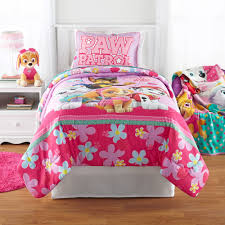 girls twin sheet set paw patrol girl best pup reversible twin full comforter walmart com