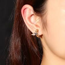 jassy® golden <b>shine crystal</b> blue rhinestone elegant earrings at ...