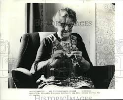 1980 Press Photo Florence Hitchcock has spent 41 years in making ...