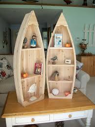 4 foot unfinished row boat shelf bookcase bookshelf hand