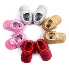 baby boy girl moccasin crib shoes toddler kids soft soled leather shoes cute new 9 9 of 10