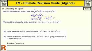 completing the square multiple x squared ultimate revision guide for further maths gcse