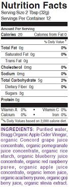 braggberry nutrition facts