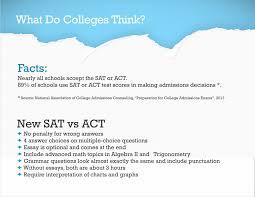 New Sat Act Comparison Y2 Academy