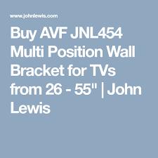 avf jnl454 multi position wall bracket