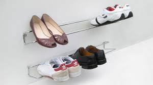Shoe Organizer On Wall Wall Shelves Design Great Wall Mounted Shoe Shelves For Small