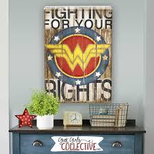 Wonder Woman Art Print Comic Art Vintage Home Wall Decor Wonder Woman Home Decor