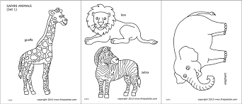 Alphabet animal pictures for colouring: Safari Or African Savanna Animals Free Printable Templates Coloring Pages Firstpalette Com