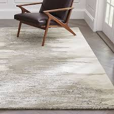 Crate and Barrel Exclusive. Birch Wool-Blend Abstract Rug