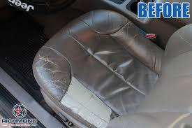 1999 2001 jeep grand cherokee laredo leather seat cover driver bottom gray