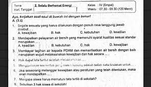 Kunci jawaban evaluasi halaman 137 138. Soal Ulangan Kelas 4 Tema 2 Selalu Berhemat Energi Sekolahdasar Net
