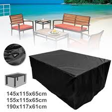 details about waterproof garden patio furniture cover rectangular outdoor rattan table cover