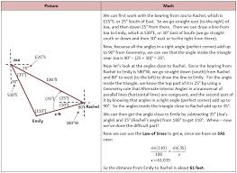 bearing math. bearing example 2 math